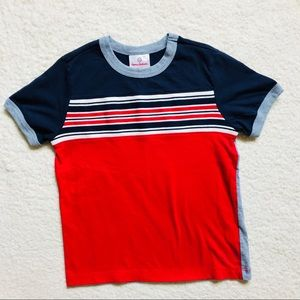 Hanna Andersson Striped Block Tee in Soft Jersey